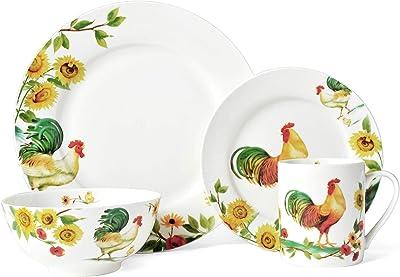 Pfaltzgraff Rooster Meadow 16-Piece Dinnerware Set, Assorted