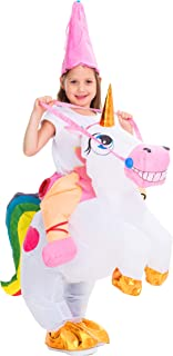 Inflatable Costume Unicorn Riding a Unicorn Air Blow-up Deluxe Halloween Costume