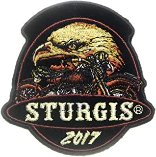 Sturgis 2017 Patch Eagle - Iron on Patch - 3x3 inch
