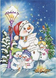 Sonsage Diamond Painting Kits for Adults,Christmas Singer Snowman DIY Round Diamond Art..