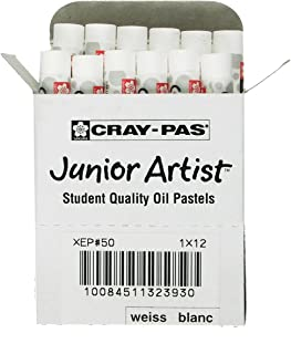 Sakura XEP-050 مجموعه 12 پیتزا Cray-Pas Junior Artist Oil Pastel، White