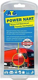 ATG | Reparatieset voor dekzeilen, powernaad, extra sterke PU-pvc-lijm, 8 pvc-patches (kleuren variëren)