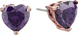 Betsey Johnson - CZ Hearts Earrings