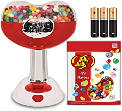 Large Jelly Belly Bean Machine + 1.3 Pound Bag Jelly Belly Jelly Beans, 49 Assorted Flavors, (3 AA Batteries incl.) Kosher Certified. Classic Jelly Belly Mini Jelly Bean Dispenser