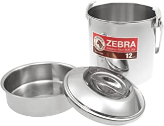 ZEBRA Bushcraft Cooking Pot - Billy Can -, stainless steel, with insert - 12cm, 1.25ltr, 1 person by Zebra