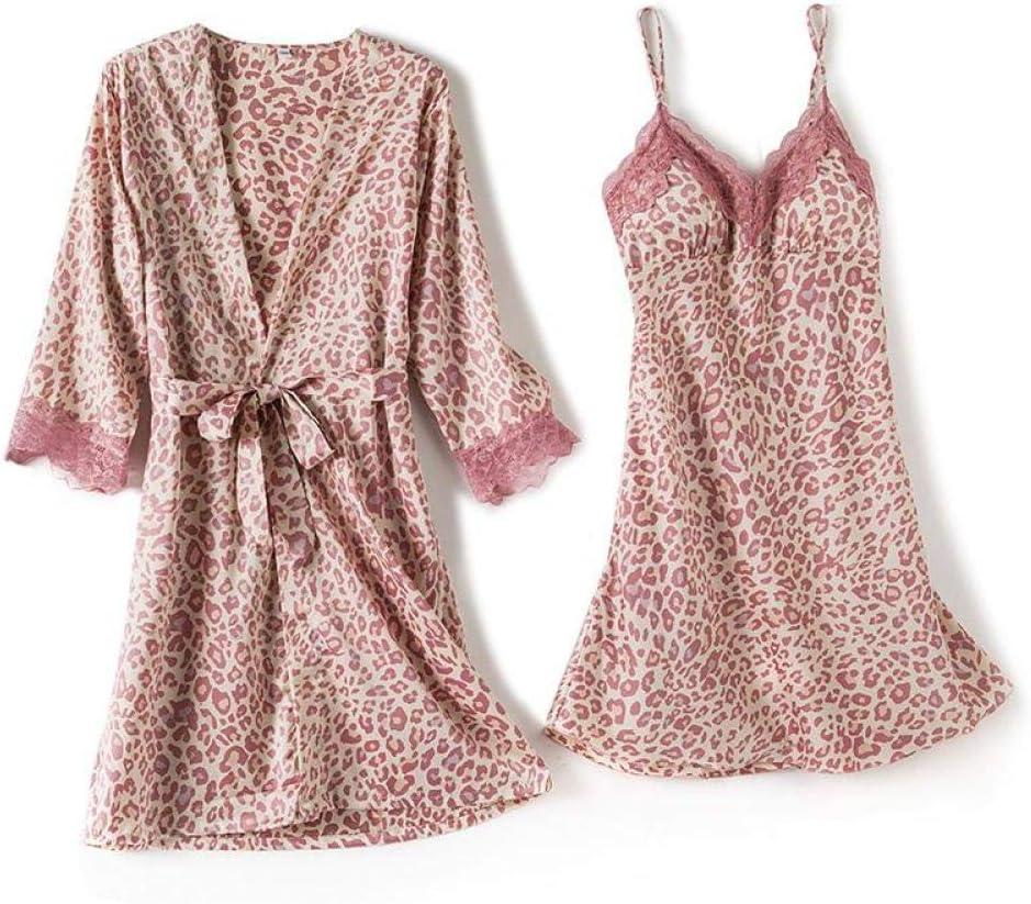 STJDM Nightgown discount Women Finally popular brand 5PCS Pajamas Bathrobe Set Satin Gow Kimono