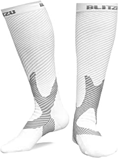 BLITZU Compression Socks 20-30mmHg Men Women Recovery Running Medical Athletic Edema Diabetic Varicose Veins Travel Pregnancy Relief Shin Splints Nursing