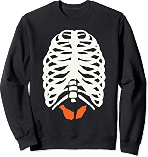 Chicken Wing Halloween - Skeleton Buffalo Chicken Wings Sweatshirt