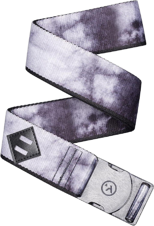 Arcade Belt Mens Adventure Blackwood Belts: Heavy Duty Elastic Webbing Non-Metal Travel Friendly Buckle Black Dye/Tree