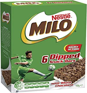 NESTLÉ Milo Snack Bars Dipped with White Chocolate, 6 Pack, 126g