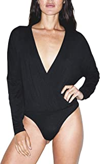 Women's Mix Modal Long Sleeve Drape Bodysuit