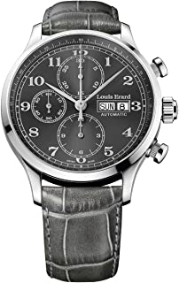 Louis Erard Men's Chronograph Automatic Watch 1931 with Grey Dial and Strap