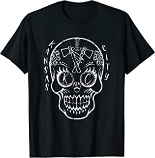 Kansas City Sugar Skull for Chiefs Fans Football T-Shirt