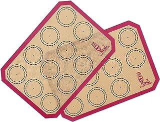 2 Pièces Tapis de Cuisson en Silicone, Tapis de Four en Silicone pour Le Biscuit et Macaron, sans BPA Anti-Adhérent Feuill...