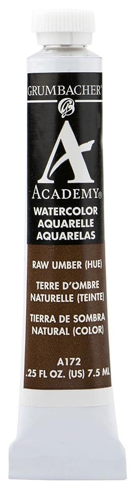 Grumbacher Academy Watercolor Paint, 7.5ml/0.25 Ounce, Raw Umber Hue (A172)