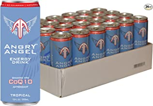 Angry Angel Tropical Energy Drink - (24 count) 12 oz Cans with CoQ10 + Important Vitamins & Minerals