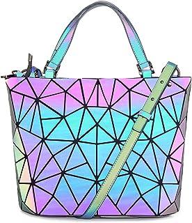 HotOne Geometric Purse Holographic Purse and Handbag...