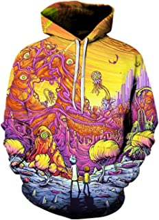 Rick Morty 3D Hoodies Unisex Sweatshirts Game Hooded Tracksuits Pullover