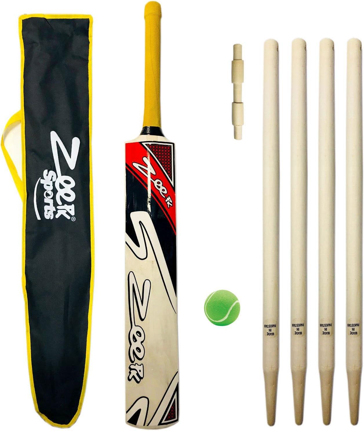 LONG Handle,Cricket Bat JUNIOR BAT KASHMIRI WILLOW 1st grade SIZE 4