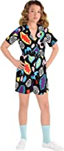Party City Stranger Things Mall Eleven Costume for Children, Features a Colorful Short-Sleeve Romper Outfit