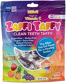 Zollipops Clean Teeth Taffy | Anti-Cavity Candy, Sugar Free Taffy with Xylitol for a Healthy Smile - Great for Kids, Diabe...