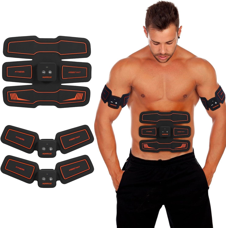 HURRISE Unisex-Youth Elektronisch Bauch Muskeln Stimulator Smart Home System Kabellos EMS Muskel-Trainer Ganzer Muskelaufbau zum Zuhause Büro Krper Fitness Trainieren Ausrüstung, FYLINA