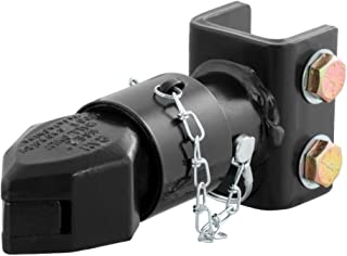 CURT 25319 Channel-Mount Adjustable Trailer Coupler, 2-Inch Hitch Ball, 7,000 lbs