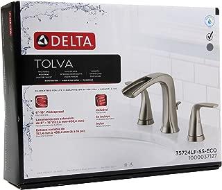Delta Tolva 35724LF-SS-ECO Bathroom sink faucet brushed nickel finish