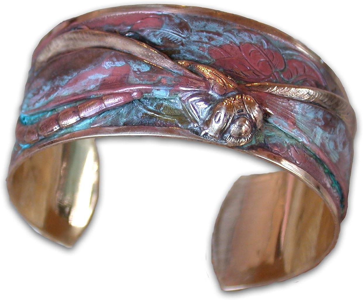 Verdigris Patina Classic Dragonfly Cuff Bracelet