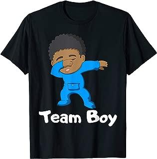 Gender Reveal Party Team Boy Cute Dabbing Black Baby Tee