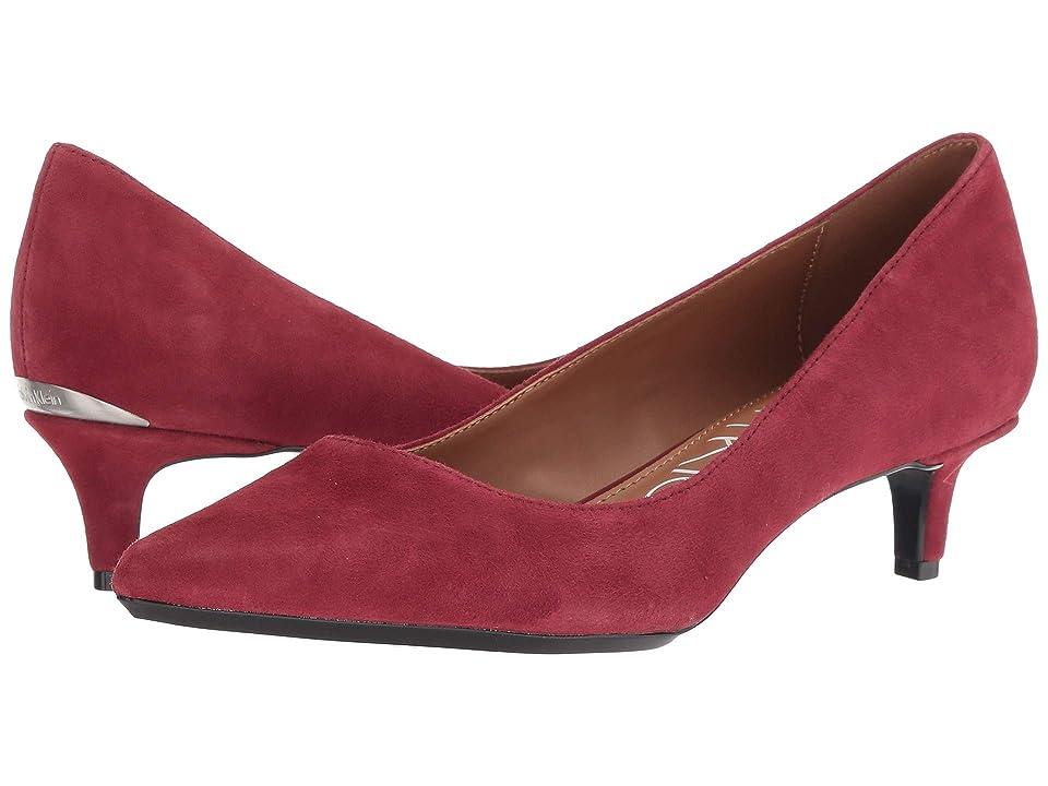 Calvin Klein Gabrianna Pump (Red Rock Leather) Women