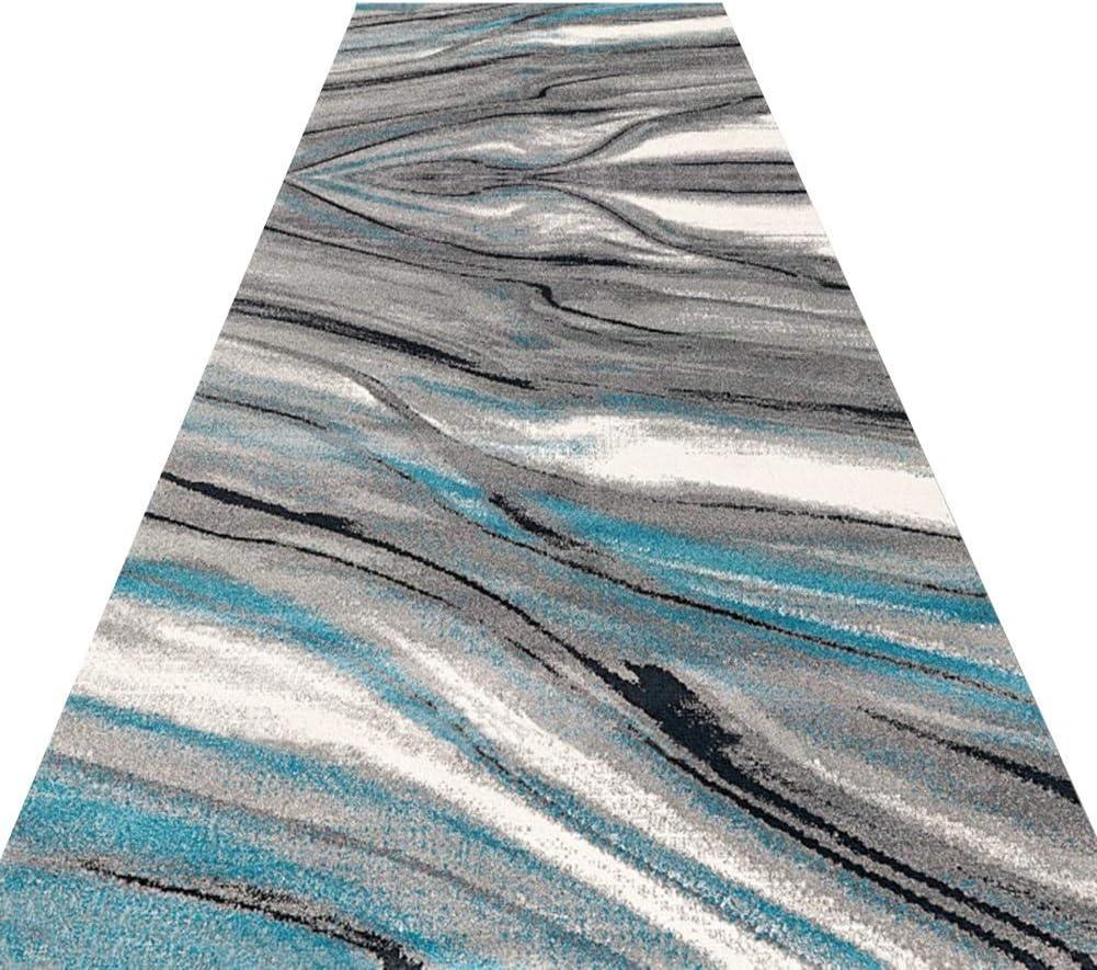 JLXJ Blue Grey Fixed price for At the price sale Carpet Runner Modern Slip Resist Narrow Long and