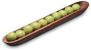 Ironwood Gourmet 28205 Olive Canoe, 1 x 1.75 x 16 inches, Brown
