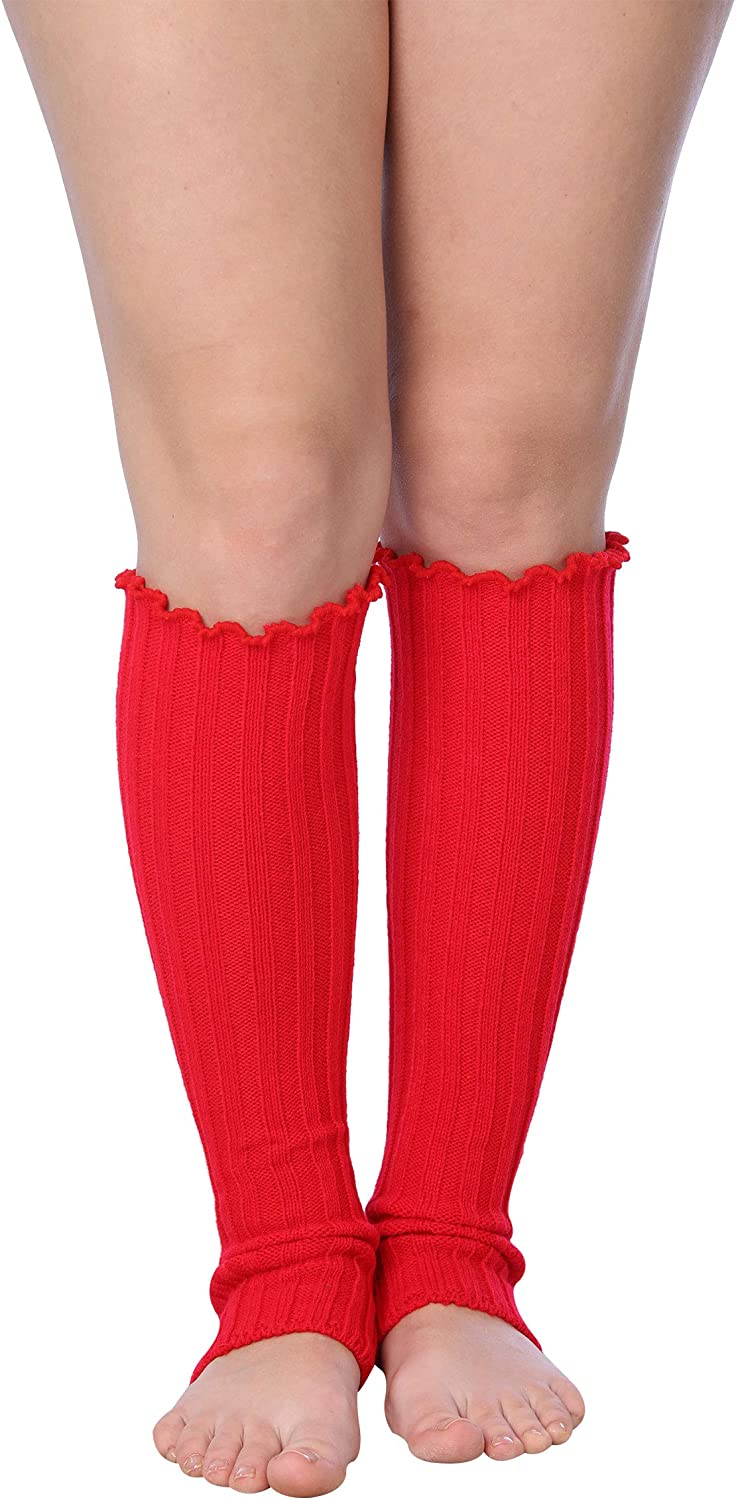 Isadora Paccini 80s Women's Ribbed Leg Warmers for Party Sports Accessories