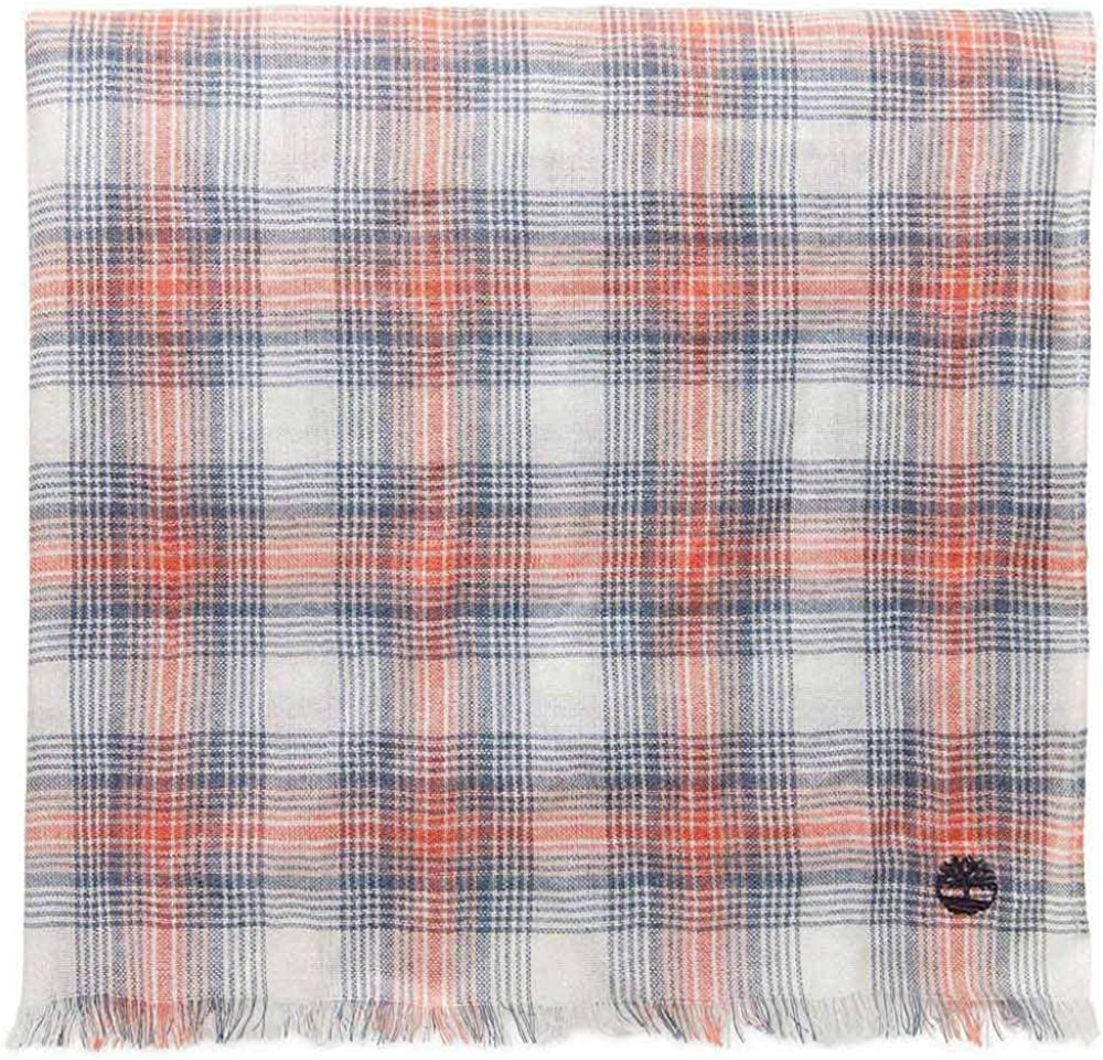 Timberland Mens Plaid Scarf (One Size) (Red/Blue)