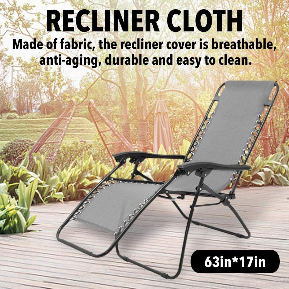 Zero Gravity Chair Replacement Fabric for Lounger Cushion Raised Bed Recliner Cloth Only The Canvas Durable Chair Lounger -Replacement Fabric Cover