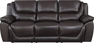 "MorriSofa MNY1699-6P-3000-7348 Saddie Power Reclining Sofa, 89"" x 40.5"" x 39"", Chocolate"