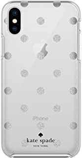 kate spade new york Protective Hardshell Case for iPhone X - Glitter Dot Miles Gray Ombre/Silver Glitter