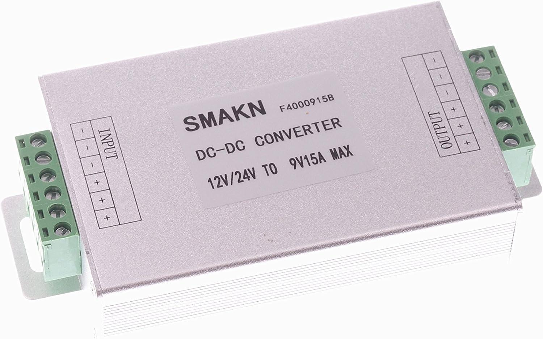 SMAKN DC/DC Converter 12V/24V/36V 12V 24V 36V Step Down to 9V/15A 9V 15A Power Supply Module