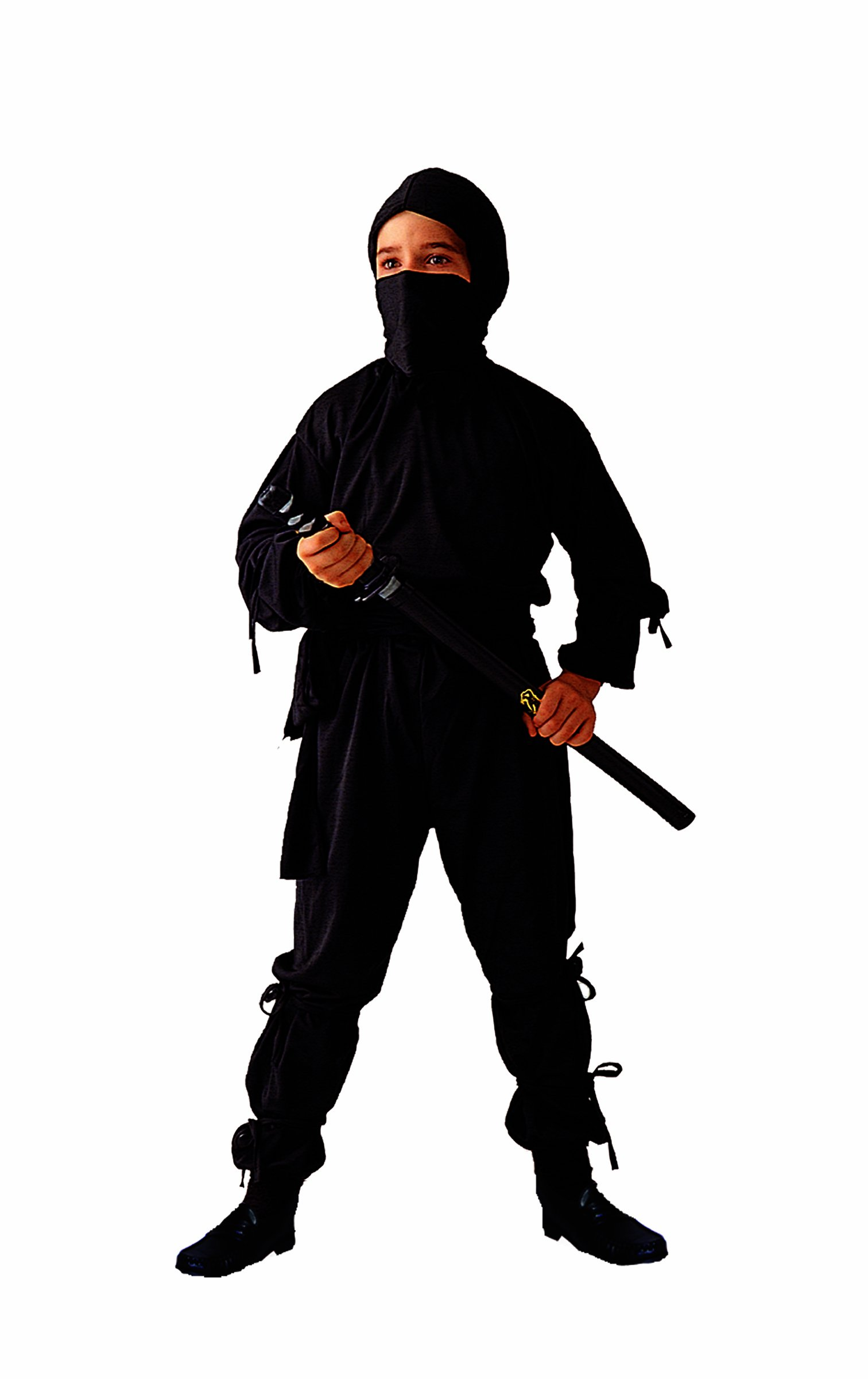 Age 3-5 Morph Kids Ninja Costume Childrens Black Kung Fu Karate Outfit Small