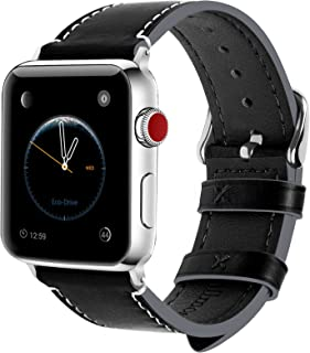 Apple Watch Band 44mm 42mm 40mm 38mm, 8 Colors Fullmosa Wax Leather iWatch Band/Strap for Apple Watch Series 6 5 4 3 2 1 a...