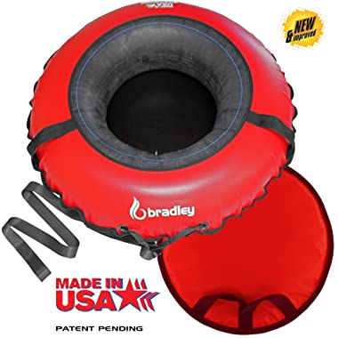 Bradley Ultimate Towable Snow Tube Sled | Inflatable Sledding Tube | Made in USA