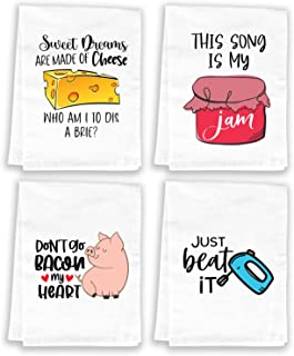 Miracu Funny Kitchen Towels and Dishcloths Sets, Cute Dish Towels - Housewarming Gift, House Warming Presents for New Home...