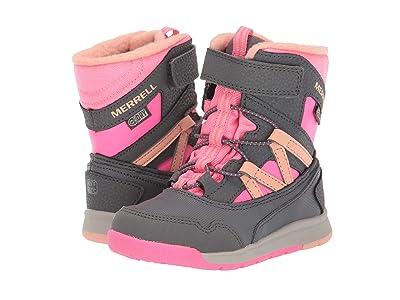 Merrell Kids Snow Crush Jr Waterproof (Toddler) (Grey/Coral) Girls Shoes