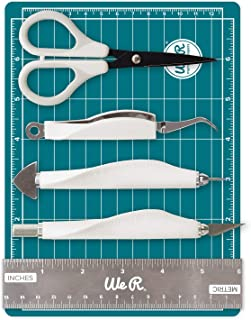 We R Memory Keepers Mini Kit Outils Scrapbooking 6 Pieces, Blanc