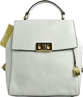 Michael Kors Women's Karson Leather Medium Backpack - Optic White
