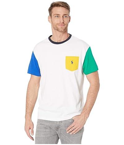 Polo Ralph Lauren Short Sleeve Classic Fit Pocket Tee (White Multi) Men