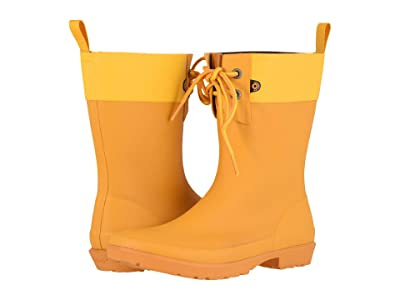 Bogs Flora 2-Eye Boot (Mustard) Women