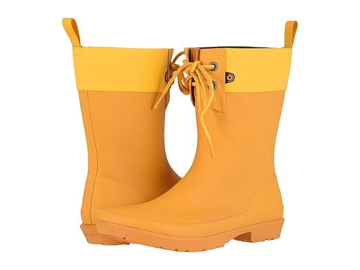 Bogs  Flora 2-Eye Boot (Mustard) Womens Rain Boots