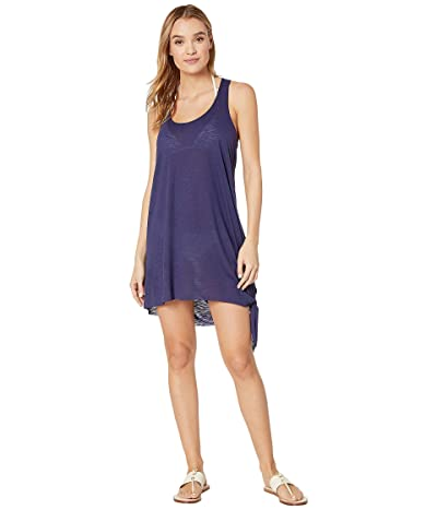BECCA by Rebecca Virtue Breezy Basics Knot Side Tie Dress Cover-Up (Navy) Women